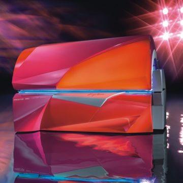 Prestige 990 Smart Power geschlossen Ansicht 7/8 schräg Totale großes Set Studio II Vollausstattung Button orange Farbe Red Berry